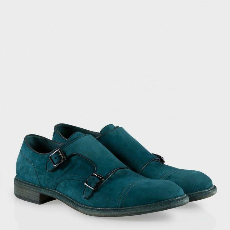 Paul Smith Men's Shoes | Petrol Blue Dip-Dyed Suede Consul Shoes