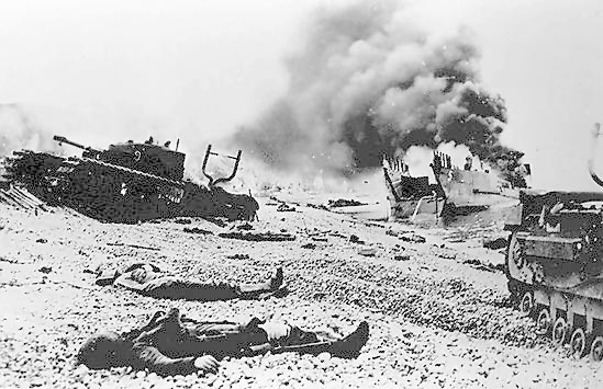 The Dieppe Raid. My Grandfather and Great-Uncle were in The Calgary Tank regiment which landed unsuccessfully on the beach.