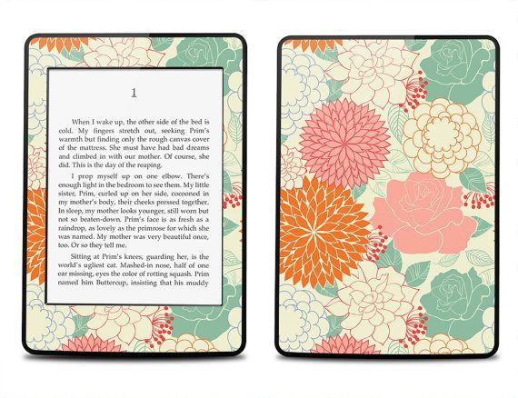 Amazon Kindle Paperwhite Skin Cover - Summer Floral Pattern - Kindle Cover, Kindle Paperwhite Cover on Etsy, $16.95