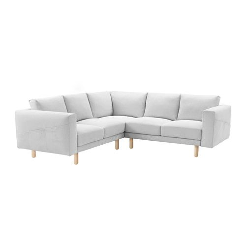NORSBORG Sectional, 4-seat, Finnsta white, birch Finnsta white birch PLAYROOM RENO