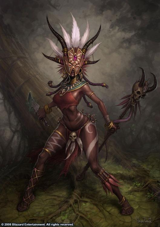 Female Witch Doctor  Diablo 3