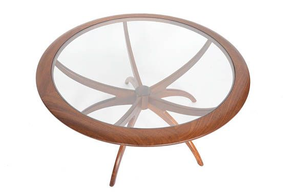G Plan Mid Century Modern Spider Coffee Table in Afromosia