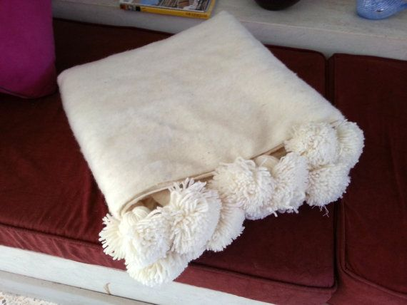 Do in pale peach: 11878 Moroccan 100  wool blankets woven by hand  by MoroccanTribal, $280.00