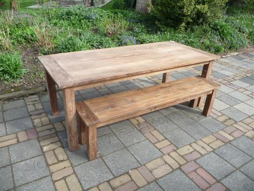 Superb Teak Tisch aus altem Holz x cm Bild