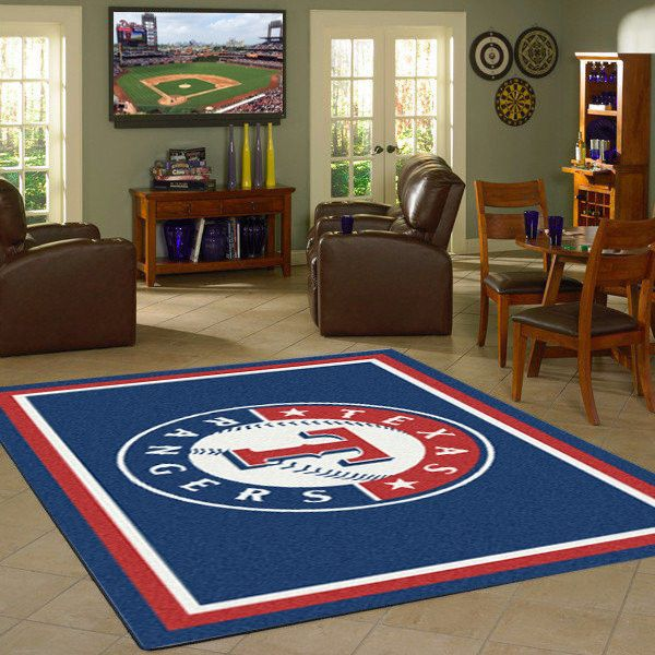 Texas Rangers MLB Team Logo Spirit Rug