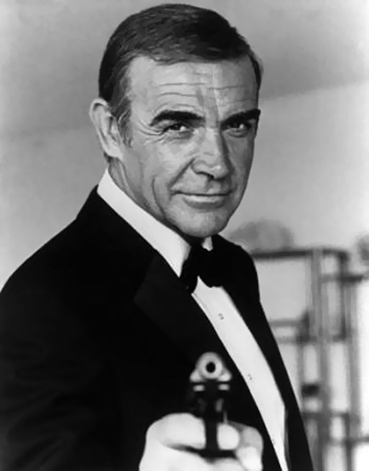 Sean Connery as Bond, James Bond! Pin twist on the 'bond' between man and animal.