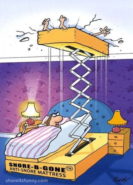 Anti Snore Mattress - https://shareitsfunny.com/anti-snore-mattress/ - Funny Cartoons on Share Its Funny #antisnoremattress