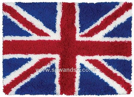 Union Jack Latch Hook Rug Kit Online At Www Sewandso Co Uk