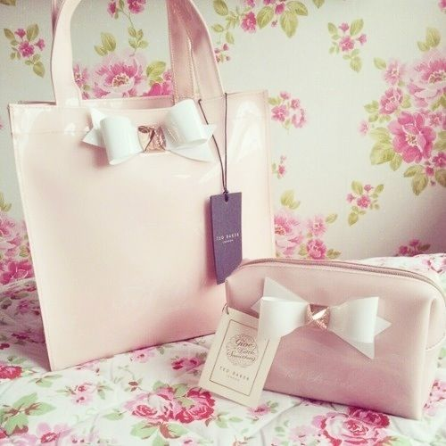 pink bow purse with matching wallet