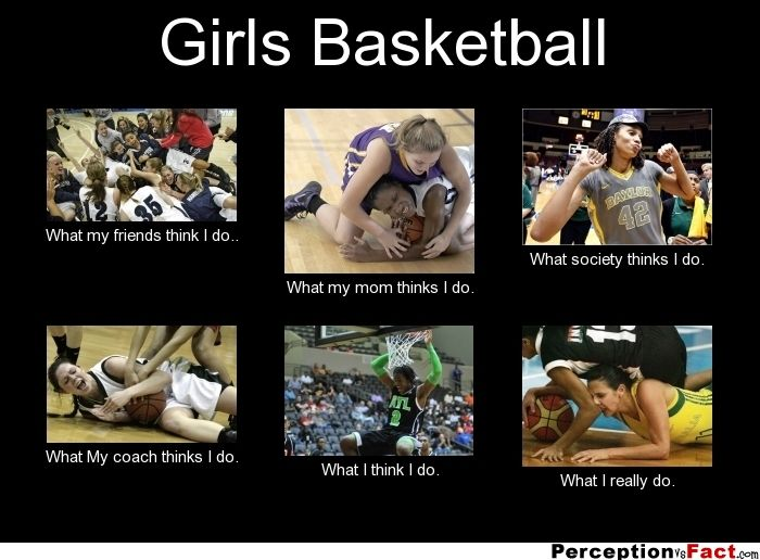 Girls Basketball... - What people think I do, what I really do - Perception Vs Fact