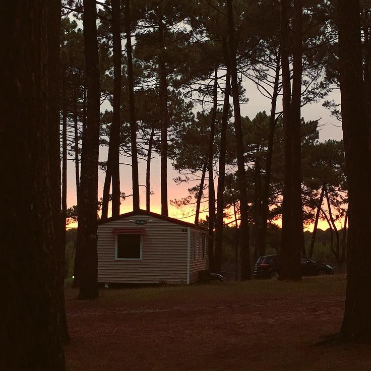 Rainy #sunset today. #leslandes #aquitaine #ig_france #explore #wanderlust #camping #eurosol