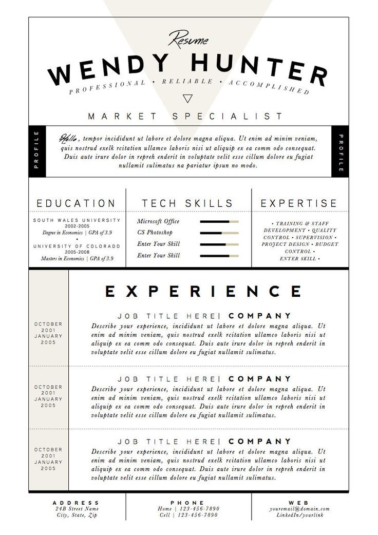 47 best RESUME images on Pinterest At home, Project management - free google resume templates