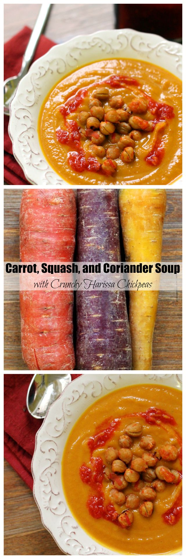 carrot, squash, and coriander soup