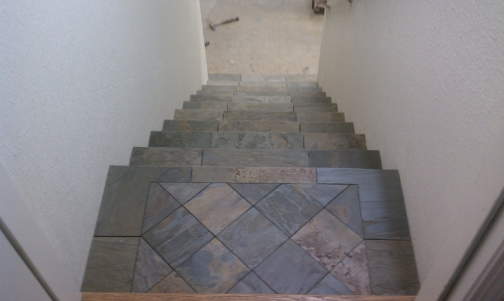 Slate Tile Stairs Flooring Ideas Pinterest