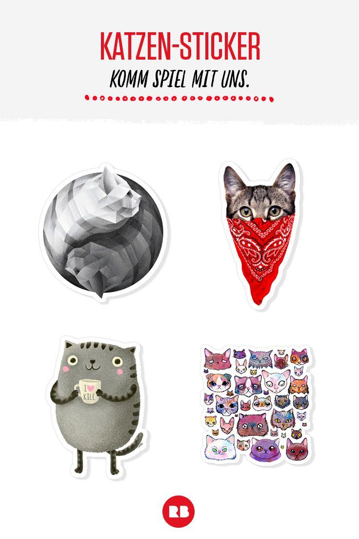 An alle Cat Ladies und die, die es noch werden wollen: Wir haben die beste Auswahl an Stickern mit Katzen! :)