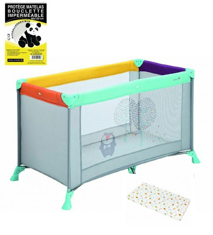 Lit parapluie avec matelas supplémentaire pour un confort optimal et une alèse anti-transpiration idéale à entretenir.Le lit se range une fois plié dans sa housse de transport.