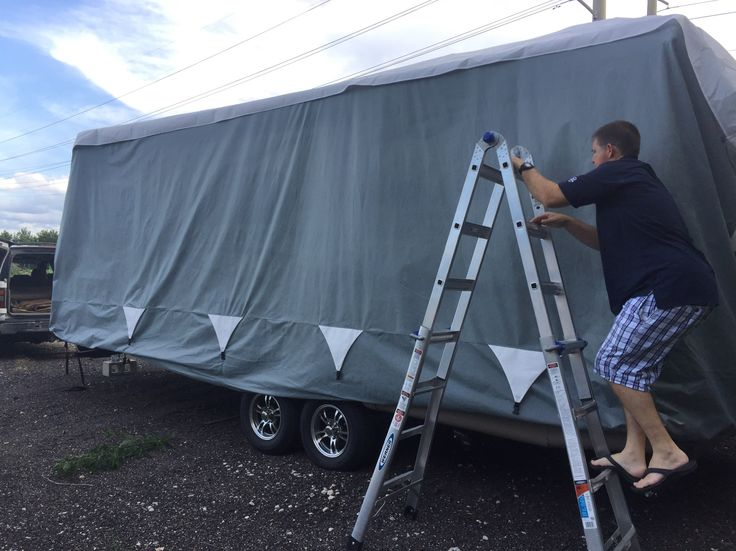 After we purchased our brand new Mini Rockwood Lite Travel Trailer, we decided to invest in a cover. One of the reasons we decided to get a new camper was the last one had started to show signs of de-lamination...Read more