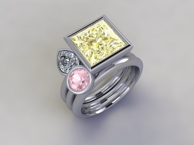 'Angel Paradise' stacker ring www.lucymecklenburghjewellery.com in association with www.diamondgeezer.com
