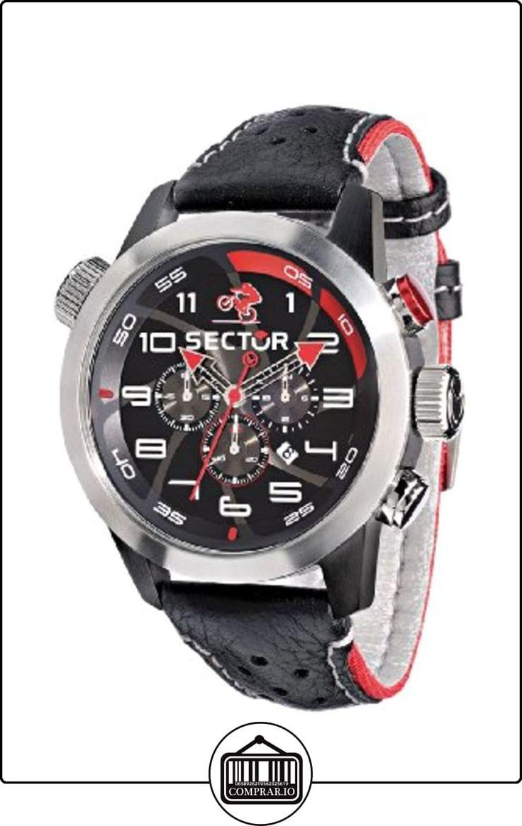 Sector R3271602125 - Reloj con correa de cuero para hombre, color negro / gris de  ✿ Relojes para hombre - (Gama media/alta) ✿