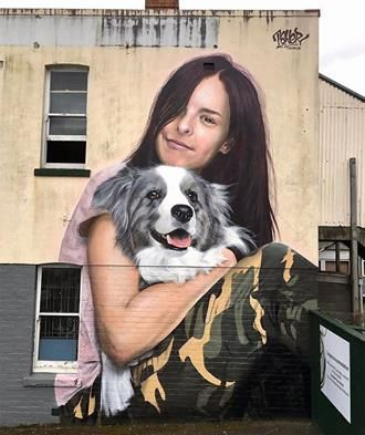 TakerOne Photorealistic Graffiti in Auckland, Nw. Zealand, 2016