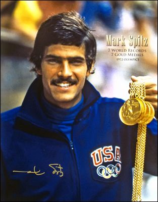 He was on my bedroom wall for a long time!  Mark Spitz, for those of you too young to remember!