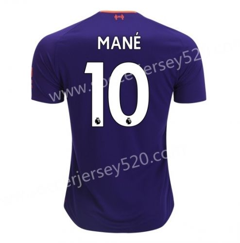 8bff9a942ff 2018-19 Liverpool Away Purple  10 (MANÉ) Thailand Soccer Jersey AAA ...