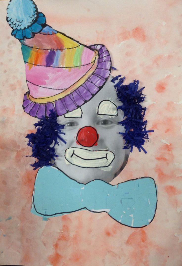 clown met foto