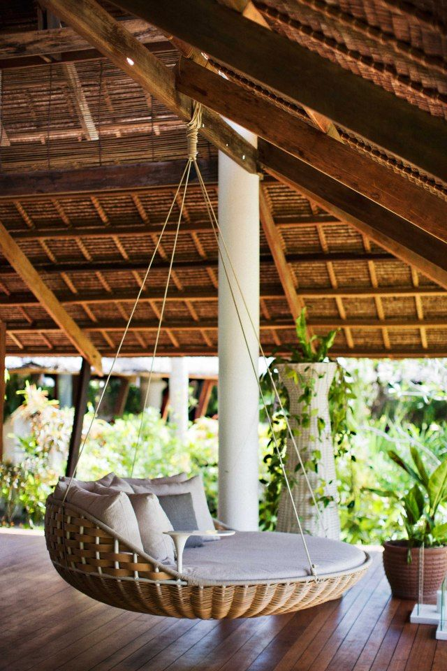 The SWINGREST hanging lounger by Daniel Pouzet is one of the first products to be created in the Outdoor Living Lab that is DEDON ISLAND.