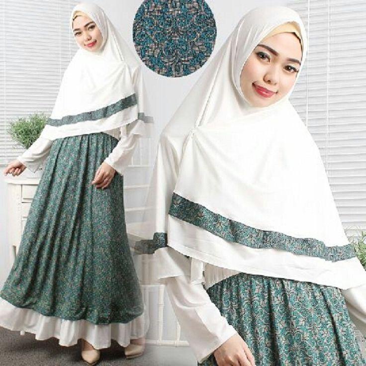 Gamis Syar'i Modern MILDA SYARI BROKEN WHITE - http://warongmuslim.com/gamis-syari/gamis-syari-modern-milda-syari-broken-white/