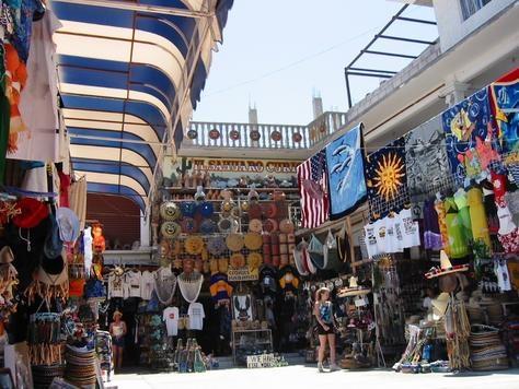 Outdoor market in Puerto Penasco, Mexico