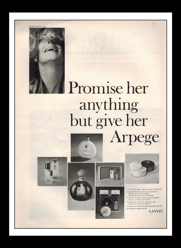 """Vintage Print Ad January 1966 : Lanvin Arpege Perfume """"Promise her anything but give her Arpege"""" Wall Art Decor 8.5"""" x 11"""" Advertisement by NostalgicDreamsCND on Etsy https://www.etsy.com/listing/223828971/vintage-print-ad-january-1966-lanvin"""
