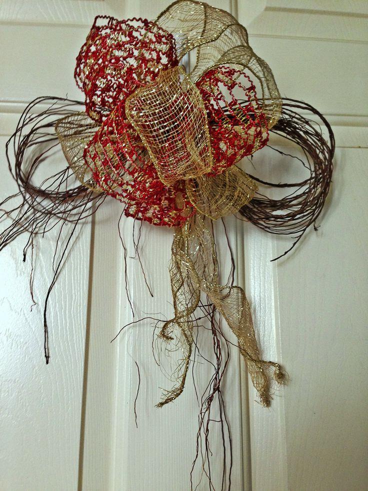 adornos para las puertas cinta y el ornamento natural caf te lo brinda los rboles