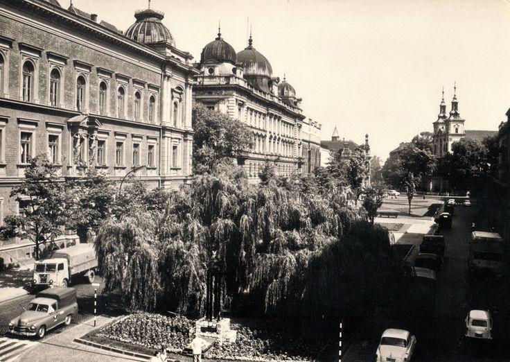 Plac Matejki. Kraków, 1970 rok