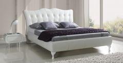 Łóżko Princessa w białej tapicerce