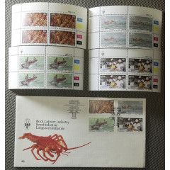 1983.11.23 SWA Rock Lobster Industry Mint Stamps & FDC
