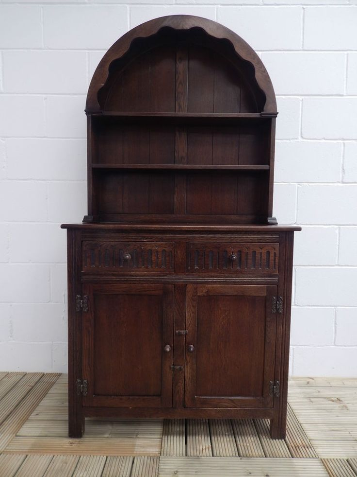 Beautiful Old Priory English Welsh Dresser Solid Wood