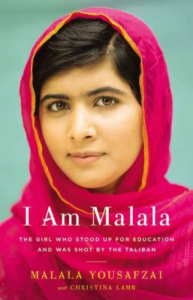 """I Am Malala: The Girl Who Stood Up for Education and Was Shot by the Taliban"" (This is a particularly beautiful cover in person.)"