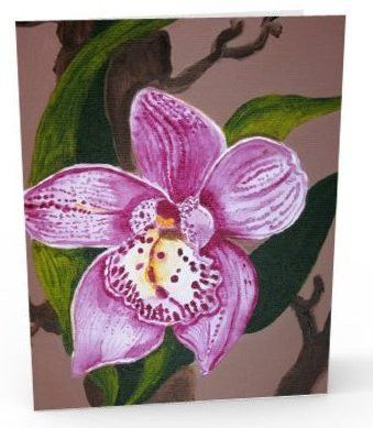 Pink Orchid, note card, greeting card
