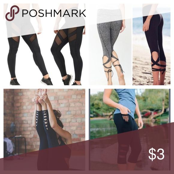 COMING SOON❤️ read below! Within the past week I have got all four of these leggings in stock in sizes Sm, md, and large! 4 different pairs! Will vary in price! Will be for sale soon, although I need to sell more in my closet before posting for sale! Please share and make offers! If you are interested in these leggings please comment which ones, and your size! Thanks!❤️❣️ material is all just like lululemon! Pants Leggings
