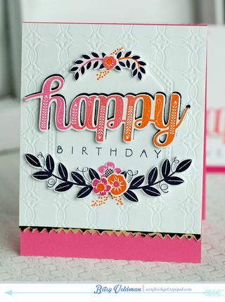 Happy Birthday Card by Betsy Veldman for Papertrey Ink (March 2014)