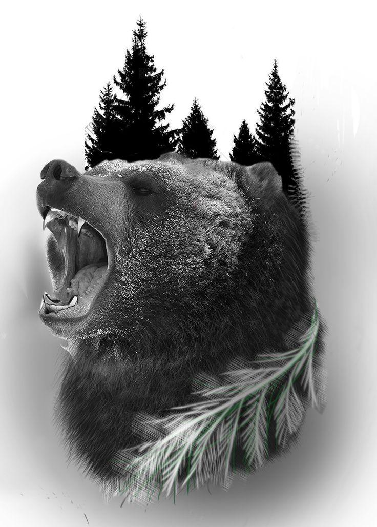 Картинка татуировки медведя