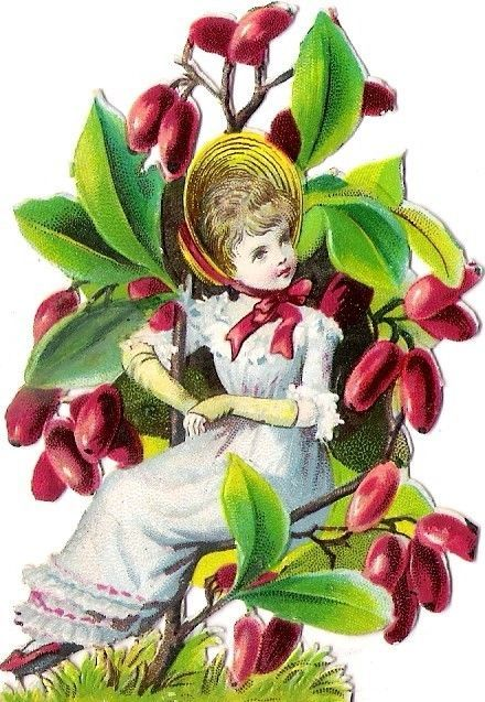 Oblaten Glanzbild scrap diecut chromo Blumen Kind  8,2cm flower child girl fleur: