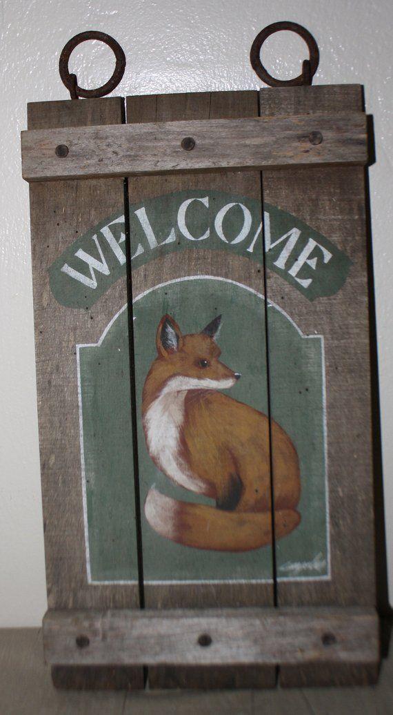 Geometric Fox kids decor farmhouse sign