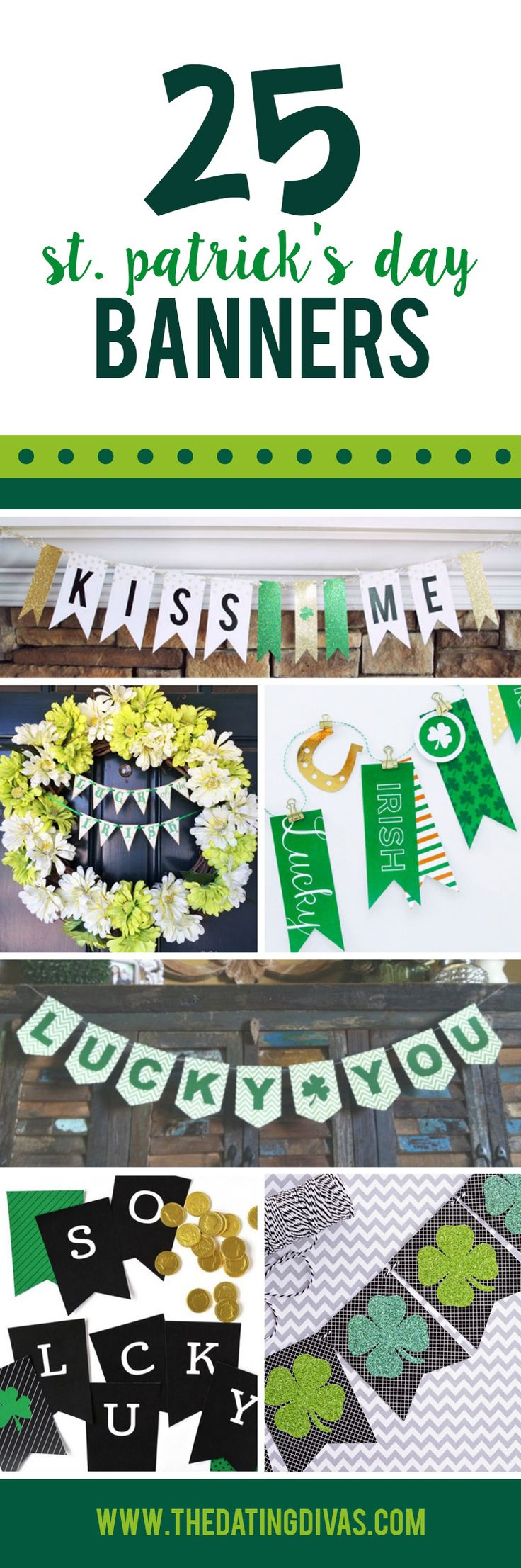 St. Patrick's Day Printable Banners - quick and easy DIY decor!