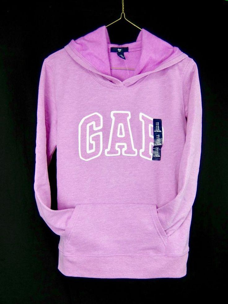 Gap Logo Hoodie Mauve Pullover Womens Size S #Gap #Hoodie