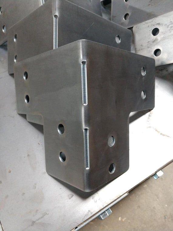 Set Of 8 For 4 X 4 Posts Heavy Duty Shop Table Pergola Etsy Sheet Metal Fabrication Pergola Cnc Table