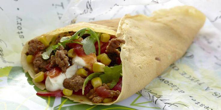 NY VRI: Prøv en ny vri på pannekakene, og fyll dem med tacosmak.
