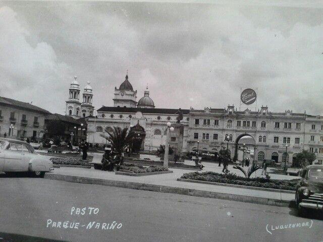PARQUE DE NARIÑO pasto  1953