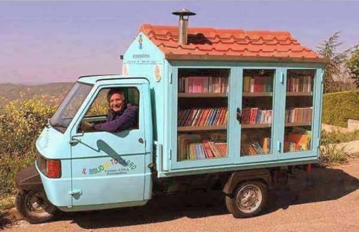 Antonio the Cava is a retired teacher. After 42 years of teaching he decided that he could do more by spreading the love of reading to children who were unable to get to a library. Thus, in 2003, he bought a second-hand motorbike and modified it to create a portable library that contains 700 books and has been traveling since then.