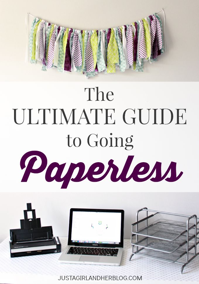 This is organizational genius. No more filing cabinets-- everything is totally paperless! (And they tell you exactly how to do it!) | JustAGirlAndHerBlog.com